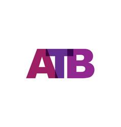 atb phrase overlap color no transparency concept vector image