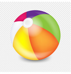 Beach ball transparent background vector