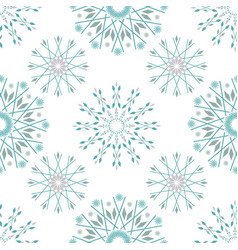 Beautiful winter design with teal and silver vector