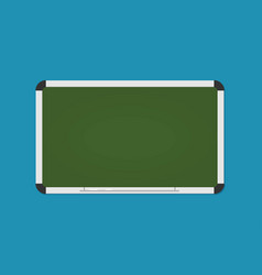 blackboard background and wooden frame with chalk vector image