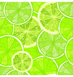 Bright seamless background with limes vector