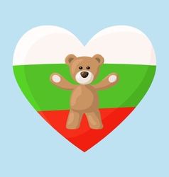 Bulgarian Teddy Bears vector image
