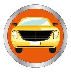 Button with car vector