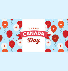 Canada day celebration canada independence day vector
