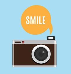 Cartoon camera icon vector image