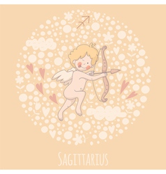 Cartoon of the archer Sagittarius vector image