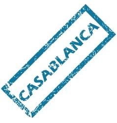 Casablanca rubber stamp vector
