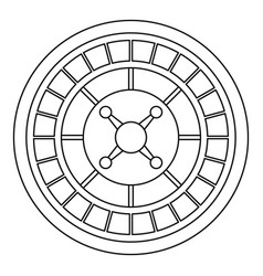 Casino roulette icon outline style vector