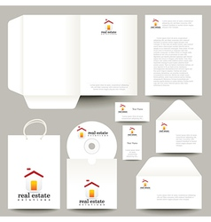 CD and packaging for real estate business vector