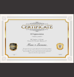 Certificate or diploma retro vintage design 01 vector