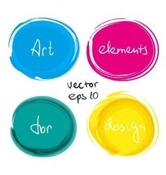 Circle paint drop set vector