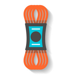 Climbing rope icon isolated vector