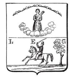 Coat of arms cuba vintage vector