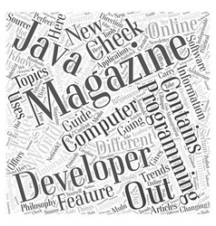 Computer programming magazines word cloud concept vector