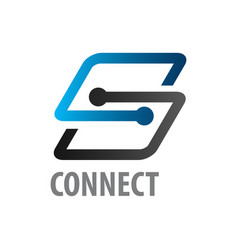connect initial letter s logo concept design vector image