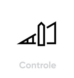 control sound music icon editable line vector image