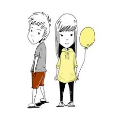 couple balloon vector image