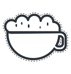 Cup coffee drink isolated icon vector