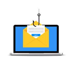 data phishing hacking online scam envelope vector image