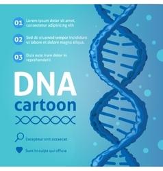 DNA background cartoon vector image