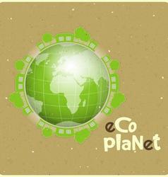 Eco planet vector