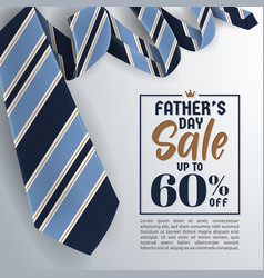 fathers day sale promotion banner vector image