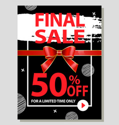 Final sale 50 percent off limited time buy now vector