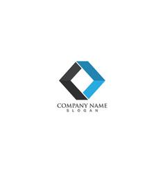 finance logo templates vector image