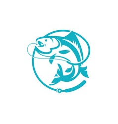 Fishing logo template vector