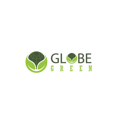 globe green logo vector image