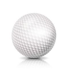 golf ball 3d realistic white vector image