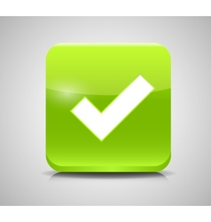 Green Check Mark Icons vector image