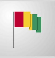 Guinea waving flag creative background vector