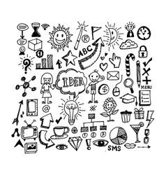 Hand draw business doodles design vector