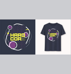 Hardcore abstract geometric graphic t-shirt vector