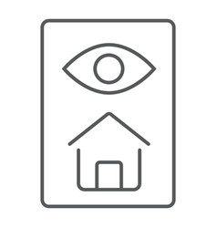 Home inspection thin line icon real estate vector