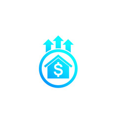 house prices growth icon vector image