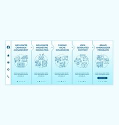 Influencer marketing technologies onboarding vector