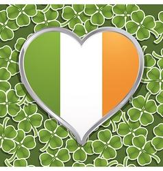 irish heart decoration vector image
