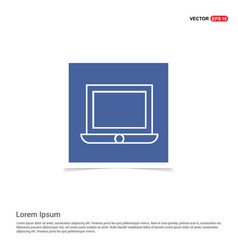 laptop icon - blue photo frame vector image