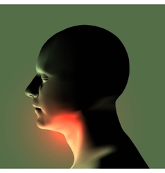 Laryngitis Human throat vector