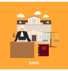 Law concept with judge vector