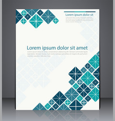 Layout brochure flyer design template vector