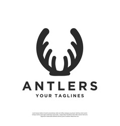 Logo abstract deer antlers vector
