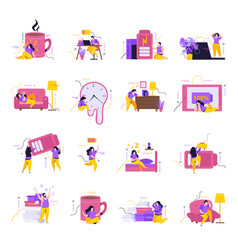 Low energy people icons set vector