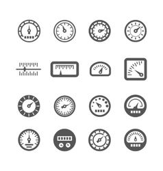 Meter control panel speedometer icons set vector