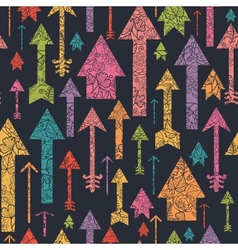 Nature textured arrows pointing up seamless vector image