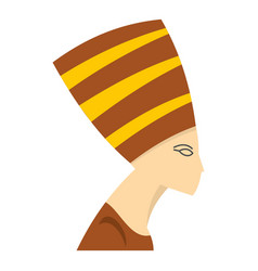 Nefertiti head icon isolated vector