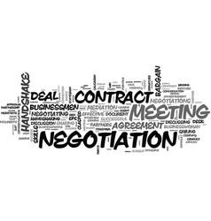 Negotiation word cloud concept vector
