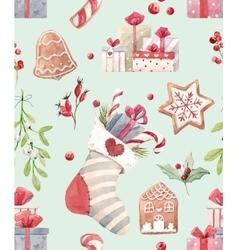 Nice christmas pattern vector image